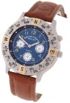 Field & Stream Men's Blue Dial Leather Strap Watch