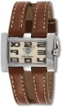 Invicta  50 Meter Brown Leather Strap Watch