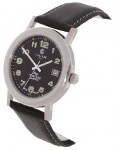 Calibre Men's Stainless Steel Watch with Black Strap
