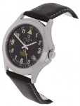 Calibre Men's Stainless Steel Black Strap Watch
