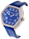 Activa by Invicta Men's Blue Leather Blue Dial Watch