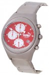 Puma Chronograph Men's Red Dial Stainless Steel Watch