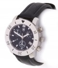 Victorinox Chrono Star Black Dial Black Leather Strap Watch