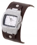 Freestyle Men's Fs Silver Dial Watch w/Brown Leather Strap